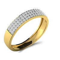 Sparkles 0.36ct Diamond Ring In 18 Kt Gold & Real Diamonds