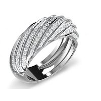 Sparkles 1.1ct Diamond Ring In 18 Kt Gold & Real Diamonds