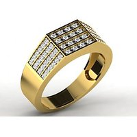 Sparkles 0.5ct Diamond Ring In 18 Kt Gold & Real Diamonds