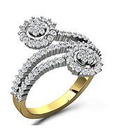 Sparkles 0.88ct Diamond Ring In 18 Kt Gold & Real Diamonds - 5566014