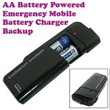 Gadget Hero's Emergency AA Battery Charger Black for Samsung, Apple iPhone, Blackberry, Sony, Samsung, HTC, Nokia, Micromax, LG, Karbonn, Intex, Lava, Philips & other USB Powered Phone's or Devices