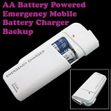 Gadget Hero's Emergency AA Battery Charger White For Samsung, Apple IPhone, Blackberry, Sony, Samsung, HTC, Nokia, Micromax, LG, Karbonn, Intex, Lava, Philips & Other USB Powered Phone's Or Devices