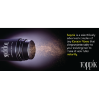 Toppik Hair Building Fibers Dark Brown 25g Colour............. 1