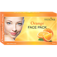 VIOLINA	Orange Face Pack With Natural & Anti Wrinkle Skin - 100gms