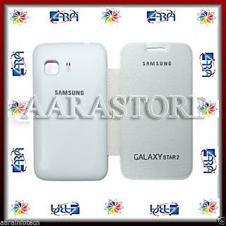 Aara Flip Cover For Samsung Galaxy Star 2 Duos - White