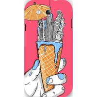 Snoogg New York In An Ice Cream Case Cover For Samsung Galaxy S3