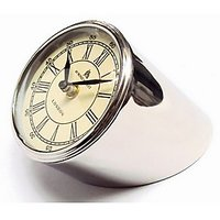 Metal Table Clock Nickle Finish 4 Inch - Abc3