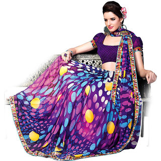 Ethnicbasket   Party Wear Chiffon   Printed   Saree.EBS103021041A