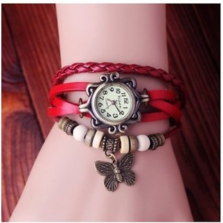 Women's Genuine Leather Strips Retro Style Watch