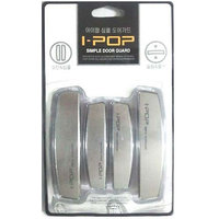 I-pop Car Door Scratch Guard Silver Colour Pack Of 4 Ipop  One For Each Door