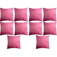 A Pack Of 10 Pcs., Vaachie Home 10H031014 GREY RED SOLID DESIGN