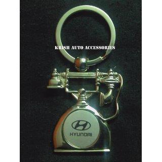 Car Logo Hyundai Telephone Shape Metal Key Chain With Free Shipping