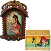 Shoppingtara Buy Bani Thani Wooden Photo Frame N Get Key Magazine Holder Free