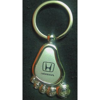 Car Logo Honda Foot Shape Metal Key Chain With Free Shipping