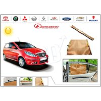 FloMaster- Car Sun Shades UV Protection AutoSun Up Curtains- Tata Indica Vista - Beige