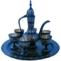 Shoppingtara Antique Black Royal Wine Set Pure Brass Handicraft 182