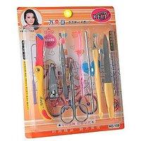 8 Pieces Compact Manicure / Pedicure Set / Kit