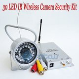 Wireless IR 30 Led 30 Meter 2.4ghz Night Vision Cctv Color Security Camera Kit With 2 Power Adapter