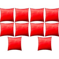 A Pack Of 10 Pcs., Vaachie Home 10H071014 RED SATEEN SOLID DESIGN