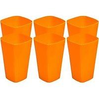 SET OF 6 PLASTIC GLASSES