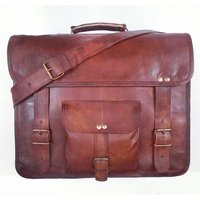 Real Genuine Leather Messenger Bag Traditionally Handmade