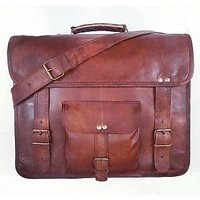 Real Genuine Leather Messenger Bag Traditionally Handmade(DR005AC)