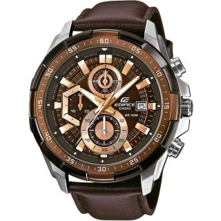 Casio Edifice Stopwatch Chronograph Brown Dial Men's Watch - EFR-539L-5AVUDF (EX