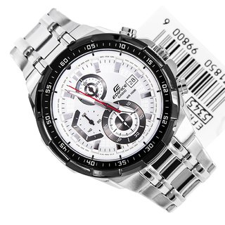 Casio Edifice Stopwatch Chronograph White Dial Men's Watch - EFR-539D-7AVUDF (EX