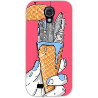 Snoogg New York In An Ice Cream Case Cover For Samsung Galaxy S4