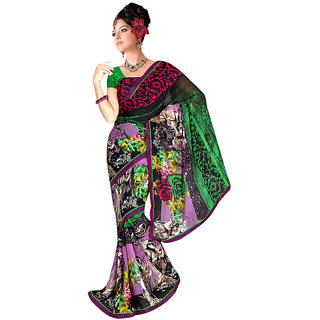 Ethnicbasket Weightless Chiffon Multi Colour Printed Saree-EBS1070115183B
