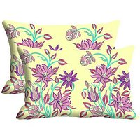 Tulip Design Set Of 2 Pc Digitally Printed Pillow Cover -Size(12x18)