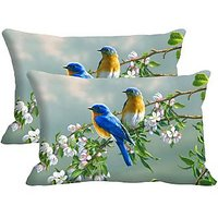Fire Plant Set Of 2 Pc Digitally Printed Pillow Cover -Size(12x18)