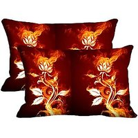 Two Birds Set Of 2 Pc Digitally Printed Pillow Cover -Size(12x18)