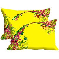 String Set Of 2 Pc Digitally Printed Pillow Cover -Size(12x18)