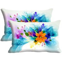 Set Of 2 Pc Digitally Printed Pillow Cover -Size(12x18)