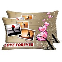 Pics Love Set Of 2 Pc Digitally Printed Pillow Cover -Size(12x18)