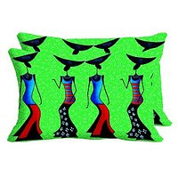 Skirt Girls Set Of 2 Pc Digitally Printed Pillow Cover -Size(12x18)