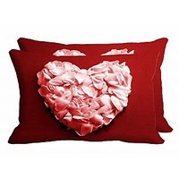 Petals Set Of 2 Pc Digitally Printed Pillow Cover -Size(12x18)