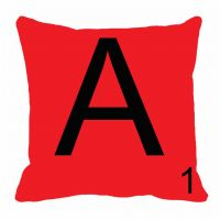 MeSleep Alphabet A Cushion Cover(16 X 16)