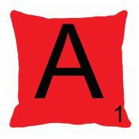 MeSleep Alphabet A Cushion Cover(16 X 16)