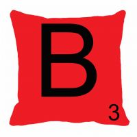 MeSleep Alphabet B Cushion Cover(16 X 16)