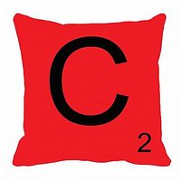 MeSleep Alphabet C Cushion Cover(16 X 16)