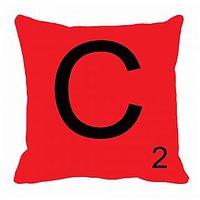MeSleep Alphabet C Cushion Cover(16 X 16)