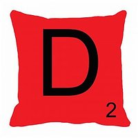 MeSleep Alphabet D Cushion Cover(16 X 16)