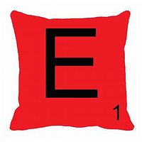 MeSleep Alphabet E Cushion Cover(16 X 16)