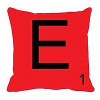 MeSleep Alphabet E Cushion Cover(16 X 16)