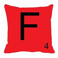 MeSleep Alphabet F Cushion Cover(16 X 16)