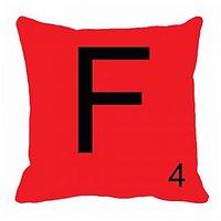 MeSleep Alphabet F Cushion Cover(16 X 16)