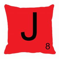 MeSleep Alphabet J Cushion Cover(16 X 16)