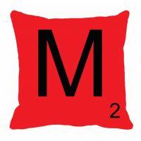 MeSleep Alphabet M Cushion Cover(16 X 16)
